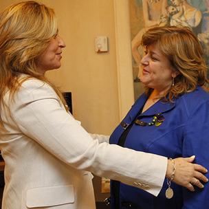 Jiménez con la presidenta del Consejo General del Colegio de Trabajo Social